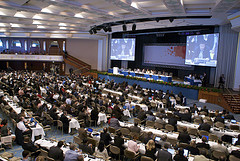 The Plenary at Bonn UNFCCC where negotiations take place.