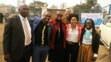 GBM Board Chair Wanjira Mathai (3rd from left) with some representatives of the Civil Society in Kenya during the event with President Barack Obama.