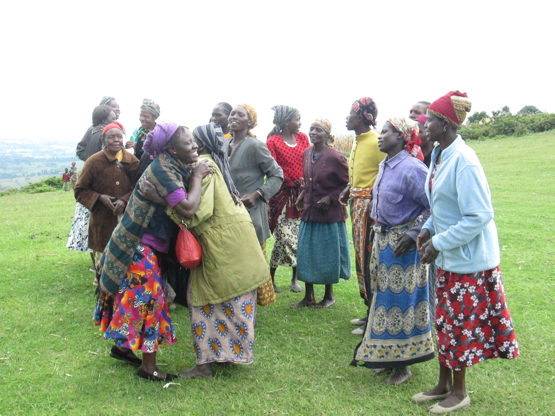 The women broke into song and dance after all was done.
